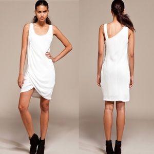 Helmut Lang Relic Side Twist Dress in Soft White
